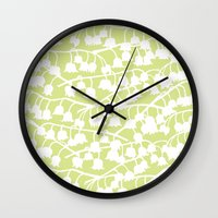 Lily of the Valley repeat Wall Clock