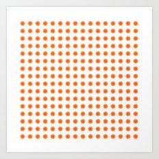 Orange stars background  Art Print
