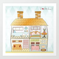 I {❤} Dollhouse Art Print