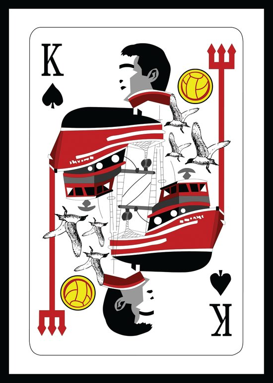 Eric Cantona - The King Canvas Print