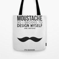 Digital Moustache. Tote Bag