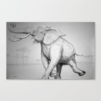 African Elephant Canvas Print