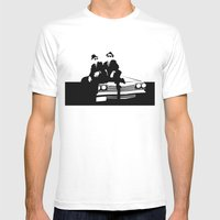 Blues Brothers Mens Fitted Tee White SMALL