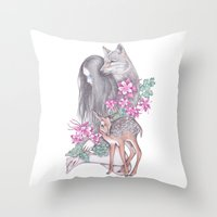 Forest Wanderer Throw Pillow