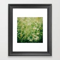Dreams of Summer Flowers Framed Art Print
