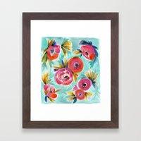 Rain Flower Framed Art Print