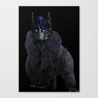 Optimus Primate Canvas Print