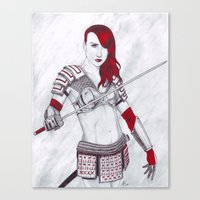 Samurai Knox Canvas Print