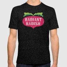 Radiant Radish Mens Fitted Tee Tri-Black SMALL