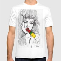 ICE LOLLY GIRL Mens Fitted Tee White SMALL