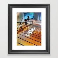 DOWNSTAIRS Framed Art Print