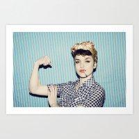 A Modern Rosie the Riveter Art Print
