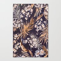 Golden oriental palms Canvas Print