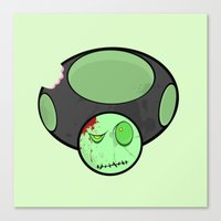 Zombie Toad Canvas Print