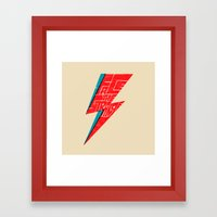 Face The Strange Framed Art Print