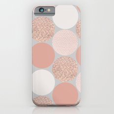 Rose Gold Dots iPhone 6s Slim Case