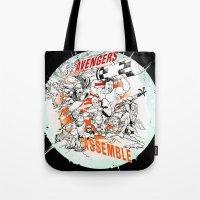 Earth's Mightiest Heroes Tote Bag