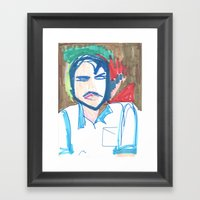 Male Man Framed Art Print