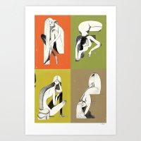 Pin-ups Art Print