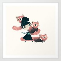 panda Art Prints featuring panda by yohan sacre