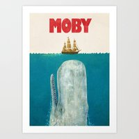 ocean Art Prints featuring Moby  by Terry Fan