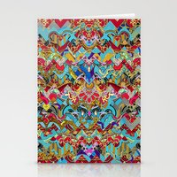 Wild Chevron- Indian Sty… Stationery Cards
