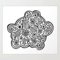 Pattern Cloud Art Print