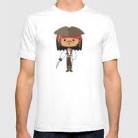 The Black Pearl Mens Fitted Tee White SMALL
