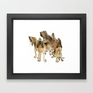 Framed Art Print featuring Hounds by Phil McAndrew