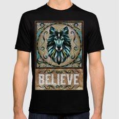 Believe SMALL Mens Fitted Tee Black