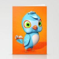 Toby Blue Bird Stationery Cards