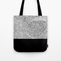 Dots And Black Tote Bag