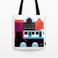 Postcards from Amsterdam / Tram Tote Bag