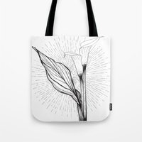 Lily in Black and White Tote Bag
