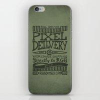 Handwriting: Pixel Deliv… iPhone & iPod Skin
