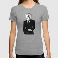 Decide Womens Fitted Tee Tri-Grey SMALL
