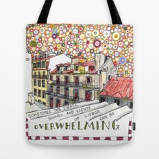 overwhelming Tote Bag