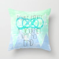 Double Infinity Throw Pillow