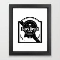 Black Death Ribbon Framed Art Print