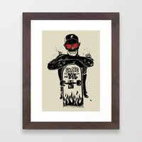 SKATE OR DIE Framed Art Print
