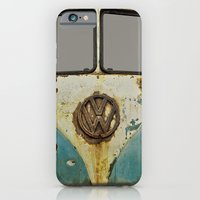vw iPhone & iPod Cases featuring VW Rusty by Alice Gosling