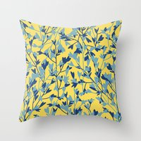 HEARTS PLANTATION [yellow] Throw Pillow