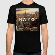 New York, New York Mens Fitted Tee Black SMALL