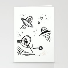 UFO Apes Play Ball Stationery Cards