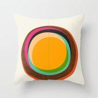 FUTURE GLOBES 001 Throw Pillow
