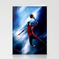 Olympic game basket Stationery Cards