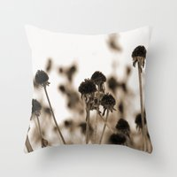 Daisy Heads - Winter Throw Pillow