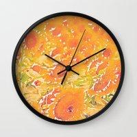 Sunflowers Summer Botanical Wall Clock