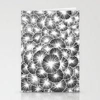 White Pinwheels Stationery Cards