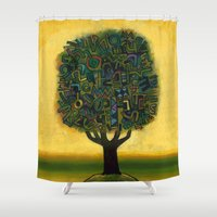 Surrealistic Landscape Shower Curtain